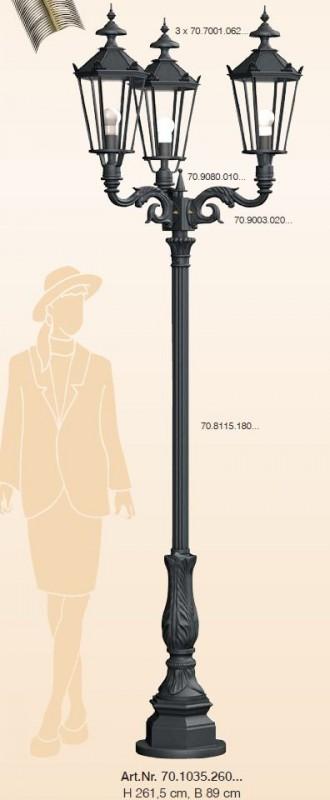kandelaber berlin 3 flammig h he 261 5 cm breite 89 cm. Black Bedroom Furniture Sets. Home Design Ideas